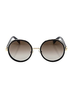 7fe941e26d Jimmy Choo - Andie 54MM Round Crystal-Detail Sunglasses - saks.com