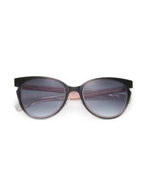 52MM Notched Cat Eye Metal Sunglasses