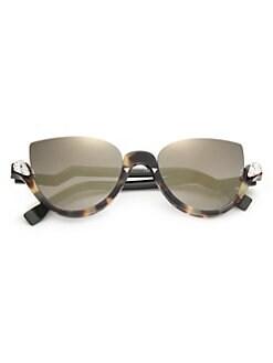 f68a86997cf Cat Eye. Fendi - 52MM Embellished Semi-Rimless Acetate Sunglasses