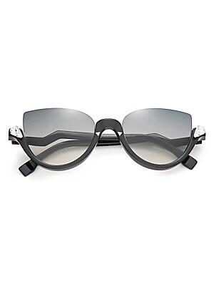 f8a5d97aa4 Fendi - 52MM Embellished Semi-Rimless Acetate Sunglasses