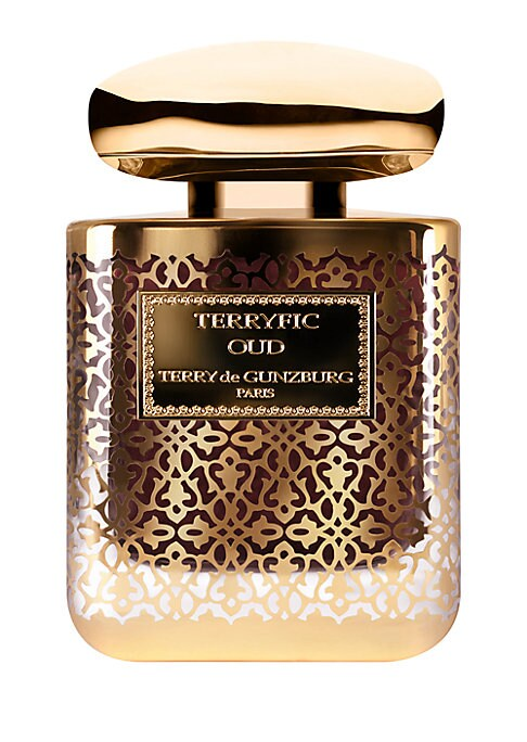 Image of Terryfic Oud Extreme extrait de parfum surges in an outward flow and rises to climactic heights of excellence. Even more provocative and voluptuous than the original fragrance, it pushes the sensual, natural rose and genuine Oud wood to a point of transce