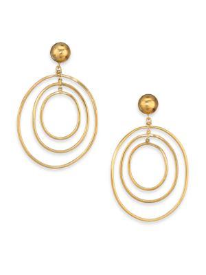 VAUBEL Nested Oval Hoop Drop Earrings in Gold