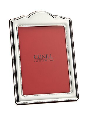 "Image of Elegant sterling silver photo frame. Small: accommodates a 4"" x 6"" photo Medium: Accommodates a 5"" x 7"" photo Large: Accommodates an 8"" x 10"" photo Sterling silver Spot clean Made in Italy. Gifts - Frames And Leather Acces. Cunill. Size: 8 X 10."