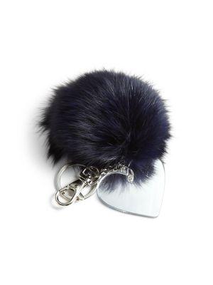 Girls Fur PomPom Key Chain