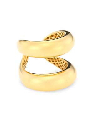 Roberto Coin Classic 18k Yellow Gold Double Band Ring