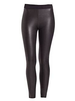 887eb4892aa Wolford - Lindsey Leather-Look Leggings