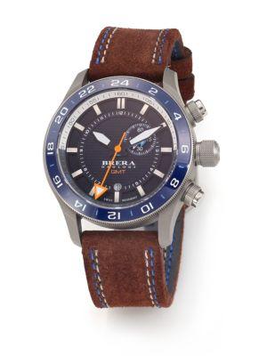 BRERA OROLOGI Eterno Gmt Stainless Steel Watch in Brown