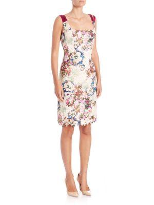 Doris Floral Print Lace Dress
