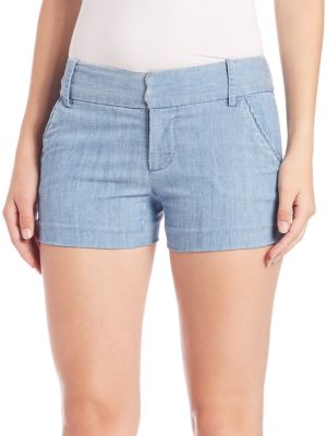 "Image of Casually styled lyocell-and-linen blend shorts. Banded waist with belt loops. Zip fly with hook-and-bar closure. Side slash pockets. Back welt pockets. Lined. Rise, about 8"".Inseam, about 4"".Leg opening, about 10"".Lyocell/linen/polyester. Dry clean. Impor"