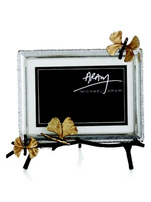 Michael Aram Butterfly Ginkgo Easel Photo Frame