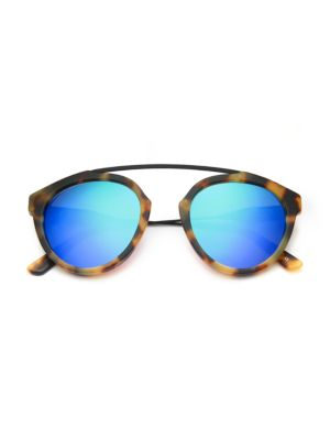 WESTWARD LEANING Flower 2 51Mm Round Sunglasses in Tortoise Green