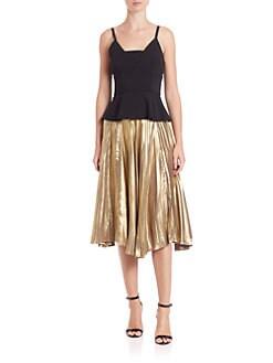 A.L.C. - Gates Pleated Midi Skirt