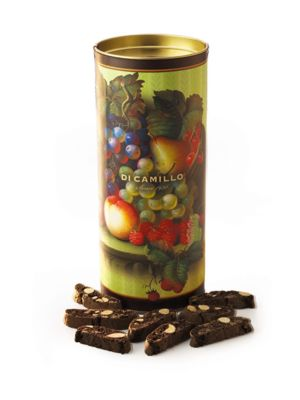 Chocolate Biscotti Fruit Canister