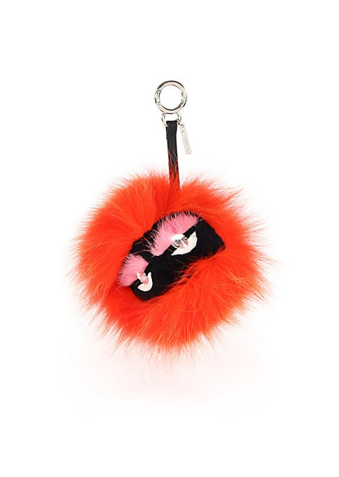 "Image of EXCLUSIVELY AT SAKS FIFTH AVENUE. Plush fur clip-on charm with lustrous crystal eyes. Silvertone clasp.4""W X 4""H X 4""D.Fur type: Dyed fox. Fur origin: Finland. Fur type: Natural and dyed rabbit. Fur origin: China. Fur type: Dyed mink. Fur origin: Finland."