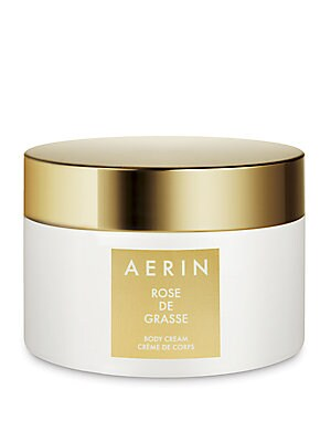 Image of A luxurious body cream infused with the Rose de Grasse scent. This moisture rich cream leaves skin with a delicate hint of the AERIN Rose de Grasse scent. 6.5 oz. Imported. Cosmetics - Estee Lauder Treatment. AERIN.
