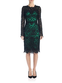 Dolce & Gabbana - Lace Contrast Sheath