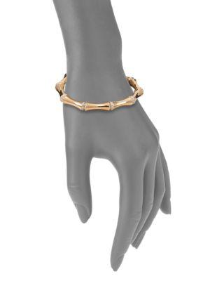 Gucci Bamboo Medium Diamond & 18K Rose Gold Bracelet, Na