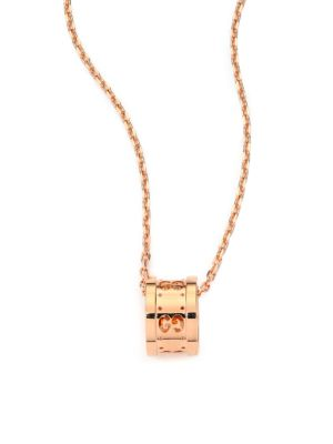 Gucci Icon Twirl 18k Rose Gold Pendant Necklace
