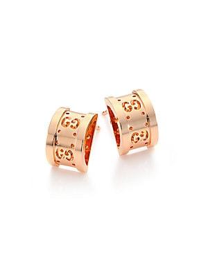 38ea48e8b96 Gucci - Icon Twirl 18K Rose Gold Stud Earrings - saks.com
