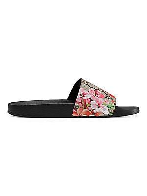 9faae359646 Gucci - GG Blooms Supreme Slide Sandals - saks.com