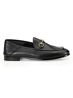 82b6602d6 Gucci - Brixton Leather Horsebit Loafers - saks.com