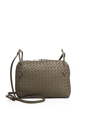 05f440f6c3 Bottega Veneta - Intrecciato Leather Double-Zip Pillow Bag - saks.com