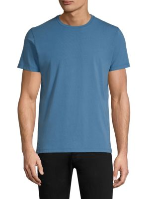 PATRICK ASSARAF David Solid Crewneck Tee in Starboard