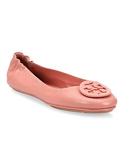 Product image. #. QUICKVIEW. Tory Burch. Minnie Travel Leather Ballet Flats