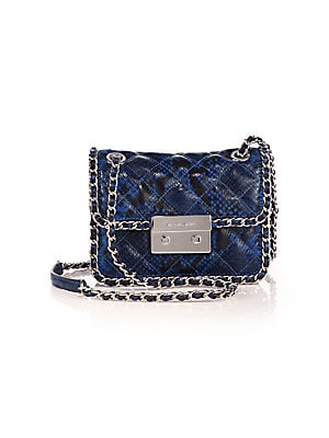 efceb9eb199e MICHAEL Michael Kors - Carine Medium Quilted Snake-Embossed Leather  Shoulder Bag - saks.com