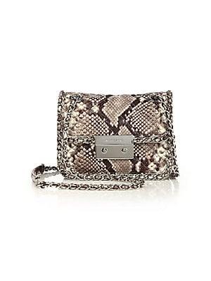 039bbb9dd12 MICHAEL Michael Kors - Carine Medium Quilted Snake-Embossed Leather Shoulder  Bag