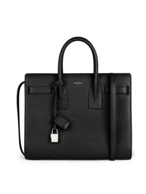 'Small Sac De Jour' Calfskin Leather Tote - Black