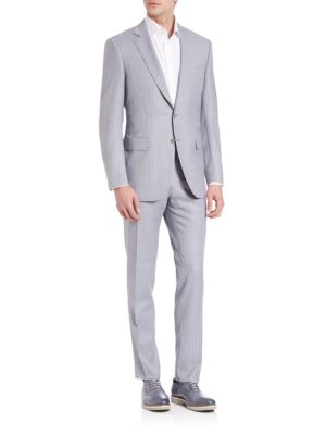 Canali  Pinstriped Wool Suit