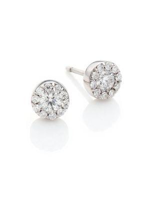 Hearts On Fire Fulfillment Diamond 18k White Gold Stud Earrings