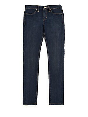 Image of Cigarette-cut skinny jeans in dark blue wash Belt loops Zip fly with button closure Mock front pockets Back patch pockets Cotton/polyester/spandex Machine wash Imported. Children's Wear - Contemporary Children > Saks Fifth Avenue. Blank NYC. Color: Dark D