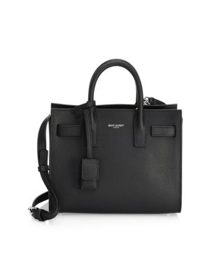 Nano Grained Leather Sac De Jour by Saint Laurent