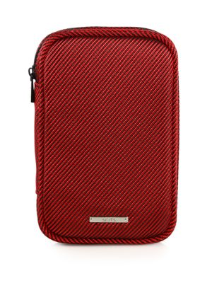 "Image of This go-everywhere tech case is cleverly sized to carry a large smartphone together with cords and essential accessories. Fits devices up to 2.5""W X 6""H.Zip closure. Inside transparent zip pockets. Nylon/polyester twill.5.5""W X 8.5""H X 2""D.Imported."