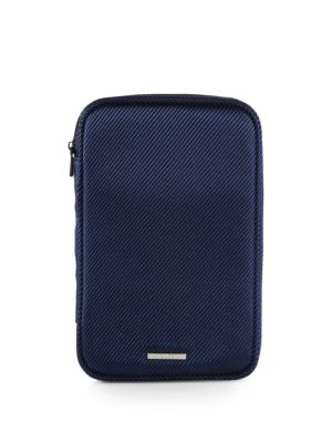 "Image of Intelligent features and modern styling compliments how to carry medium-sized electronics such as small tablets with cords and essential accessories. Fits devices up to 4""W X 8""H.Zip closure. Inside clear zip pockets. Nylon/polyester twill.7.5""W X 11""H X"