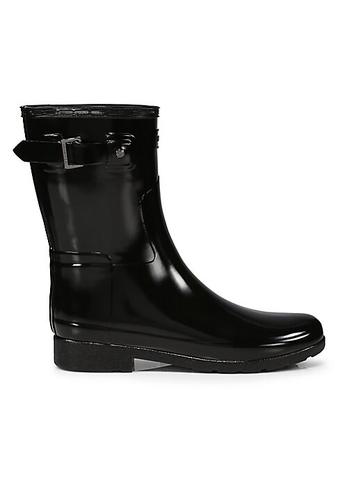 "Image of Slim-fit waterproof silhouette crafted of thinner rubber. Shaft, 10"".Leg circumference, 12"".Rubber upper. Pull-on style with metal side buckle. Nylon lining. Rubber sole. Imported."