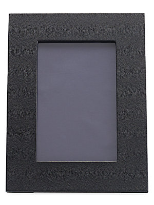 """Image of Display memorable photos in this structured frame. Accommodates a 4"""" X 6"""" photograph Overall size, 4"""" X 6"""" Cotton/acrylic resin Imported. Gifts - Books And Music. Smythson. Size: 5 X 7."""