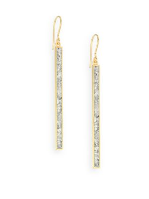 SHANA GULATI Jemma Miladi Sliced Raw Diamond Drop Earrings in Gold