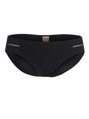 TORY BURCH SWIM Lattice Hipster Bikini Bottom in Black