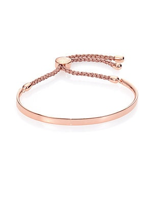 c47ac09683078 Monica Vinader - Fiji 18K Rose Gold Vermeil Friendship Bracelet/Metallica