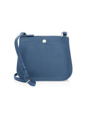 Milky Way Leather Shoulder Bag in Mediterean