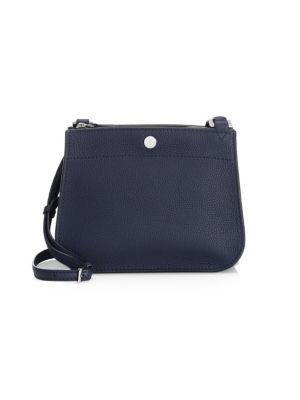 Milky Way Leather Shoulder Bag in Ombre Blue