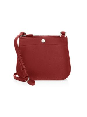 Milky Way Leather Shoulder Bag in Red Tango