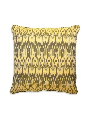 "Image of Ikat textile design from superior cotton.22""W x 22""H.Cotton. Spot clean. Imported."