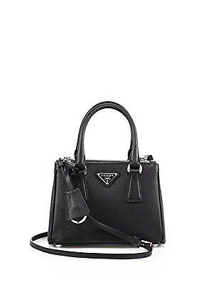 a8bc7fa00564 Prada - Mini Saffiano Leather Double-Zip Satchel - saks.com