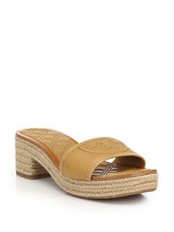 354238b07ce Tory Burch Fleming Quilted Leather Espadrille Slide Sandals from ...