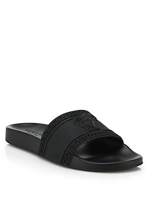 Versace - Medusa Slide Sandals - saks com