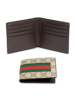 e20220c762ea GG Supreme Canvas Web Bi-Fold Wallet GREEN. QUICK VIEW. Product image